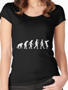 Human Evolution Parkour Evolution Women's Fitted Scoop T-Shirt