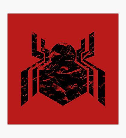 Spiderman Logo - Civil War (Black) Photographic Print