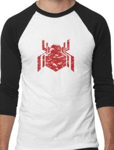 Spiderman Logo - Civil War (Red) Men's Baseball ¾ T-Shirt