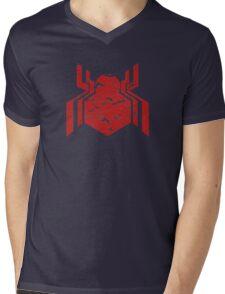 Spiderman Logo - Civil War (Red) Mens V-Neck T-Shirt