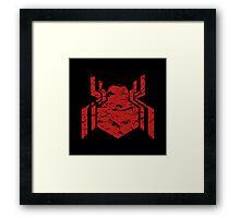 Spiderman Logo - Civil War (Red) Framed Print