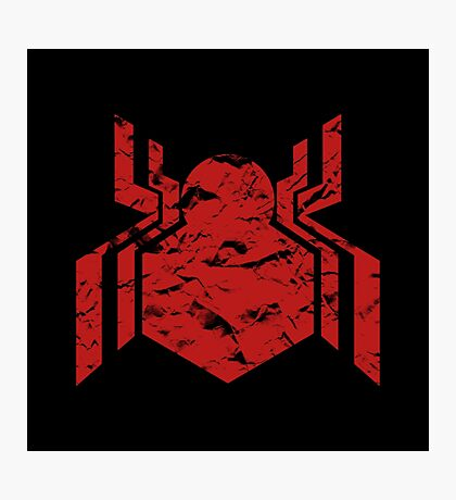 Spiderman Logo - Civil War (Red) Photographic Print