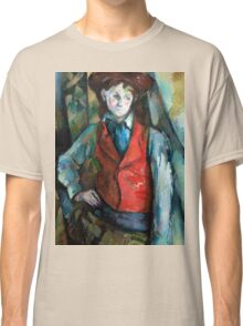 1890 - Paul Cezanne - Boy in a Red Waistcoat Classic T-Shirt