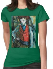 1890 - Paul Cezanne - Boy in a Red Waistcoat Womens Fitted T-Shirt