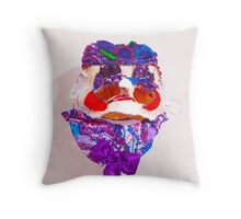 Colourful Puppet Head   Throw Pillow