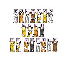 Doctors make it better, cats in bandages. Photographic Print