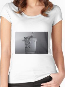 Glass of water Women's Fitted Scoop T-Shirt