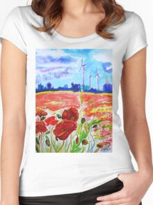 wind Women's Fitted Scoop T-Shirt