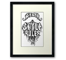 Beard & Moustache Style Framed Print