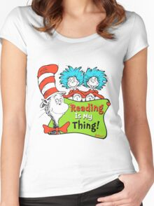 Reading is My Thing Seuss Women's Fitted Scoop T-Shirt