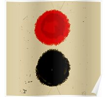 Black and red circle Poster