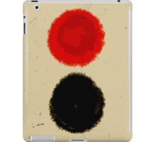 Black and red circle iPad Case/Skin