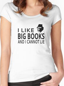 I Like Big Books And I Cannot Lie Women's Fitted Scoop T-Shirt