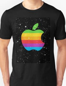 Coloured Apple logo in space with stars T-Shirt