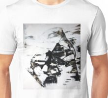 Female Eyes, Original mixed media painting, Huge monochrome Abstract Face of Woman Unisex T-Shirt