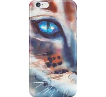 I can see you, Watercolor Painting, Cat iPhone Case/Skin