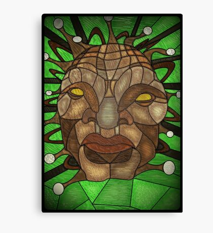 Face of Boe Stained Glass Canvas Print
