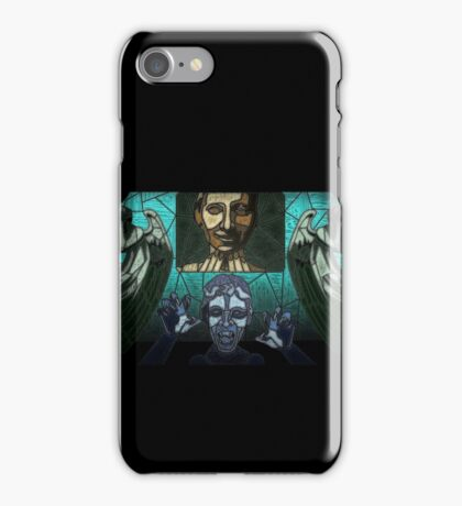 Weeping angels stained glass iPhone Case/Skin