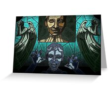Weeping angels stained glass Greeting Card