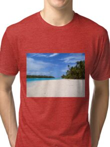 One Foot Island, Aitutaki - Cook Islands Tri-blend T-Shirt