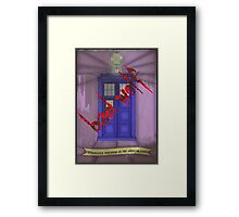 BAD WOLF Whovian stained glass  Framed Print