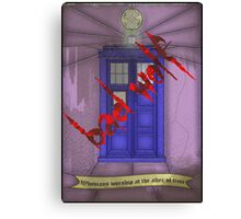 BAD WOLF Whovian stained glass  Canvas Print