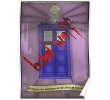 BAD WOLF Whovian stained glass  Poster