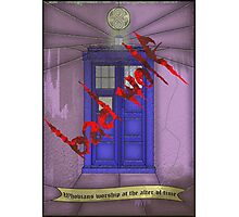BAD WOLF Whovian stained glass  Photographic Print