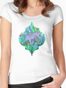 Little Elephant on a Jungle Adventure Women's Fitted Scoop T-Shirt