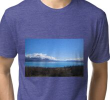 Lake Pukaki - New Zealand Tri-blend T-Shirt