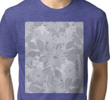 Floral Seamless Colored Pattern Tri-blend T-Shirt