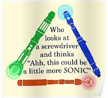 Who looks at a screwdriver... Poster