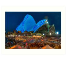 Luminous in Blue - Sydney Opera House Art Print