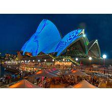 Luminous in Blue - Sydney Opera House Photographic Print