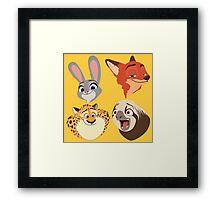 Animals Q Framed Print