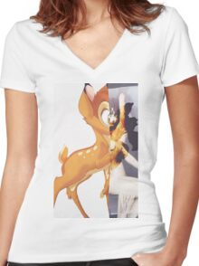 Givenchy Bambi Women's Fitted V-Neck T-Shirt
