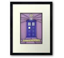 Whovian stained glass Framed Print