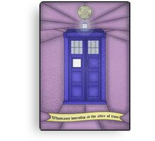 Whovian stained glass Canvas Print