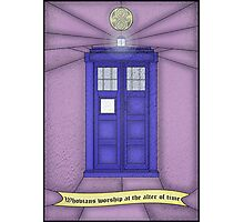 Whovian stained glass Photographic Print