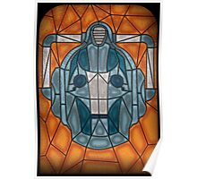 Cyberman stained glass Poster