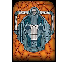Cyberman stained glass Photographic Print