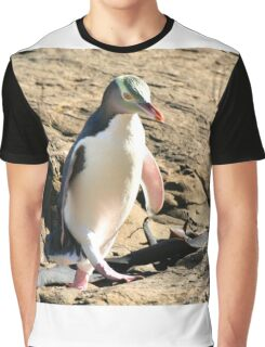 Yellow-eyed Penguin Walking - Catlins region of New Zealand Graphic T-Shirt