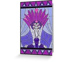 Emperors advisor - stained glass villains Greeting Card