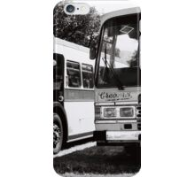 Vintage Buses in Black and White iPhone Case/Skin