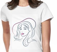 Beautiful Young Woman Womens Fitted T-Shirt