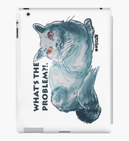 cartoon style illustrtion cool cat  iPad Case/Skin