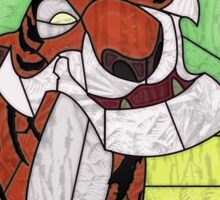 Old Stripy  - stained glass villains Sticker