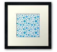 Intricate Blue Dot Pattern Framed Print