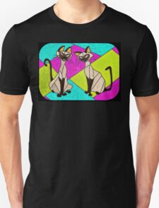 siamese cats  - stained glass villains Unisex T-Shirt
