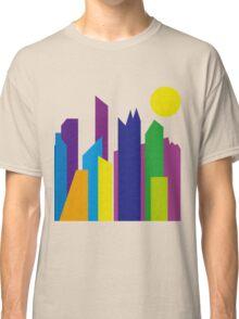 Geometric Flat Abstract Halftone City Trendy Summer Colors Classic T-Shirt